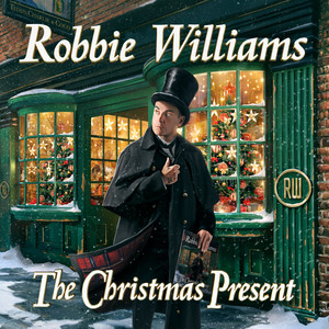 Album cover to Christmas record The Christmas Present (Deluxe) by Robbie Williams.